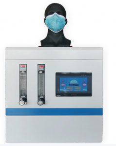دستگاه اندازه گیری میزان مقاومت تنفسی ماسک